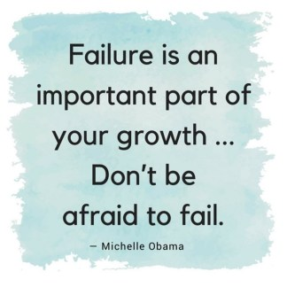 Failure is an opportunity for growth-M Obama quote
