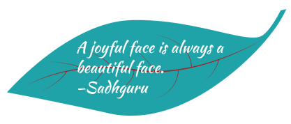 Sadhguru joyful face quote