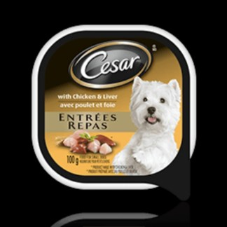 CESAR®ENTRÉES: WITH CHICKEN AND LIVER 100g