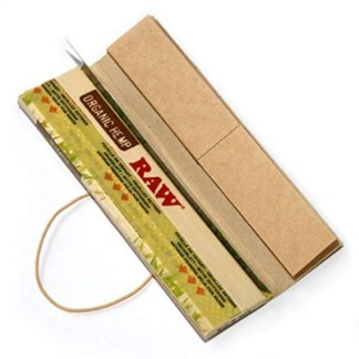 RAW ORGANIC NATURAL UNREFINED HEMP CONNOISSEUR ROLLING PAPERS w/TIPS KINGSIZE SLIM, PACK/32