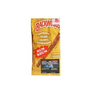 Backwoods 5 Cigars Rum Authentic Cigars