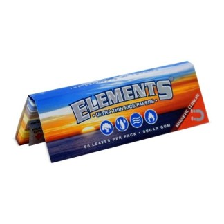 ELEMENTS ULTIMATE THIN RICE ROLLING PAPERS with MAGNETIC CLOSURE 1 1/4 SIZE, PACK/50