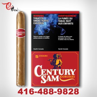 Century Sam Coronas Pack Of 5 Cigars
