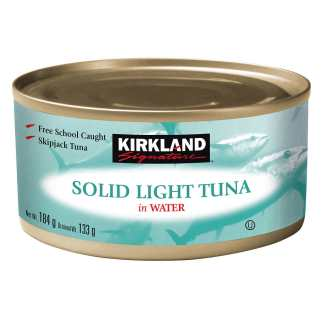 Kirkland Signature Solid Light Tuna in Water, 184 g