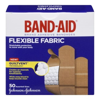 Band-Aid Tissu Flexible Assorted Sizes