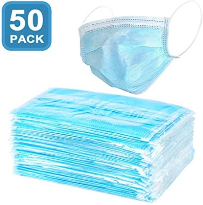 Filter Mask – 50 Count 3-Ply Disposable Face Mask (50PACK)
