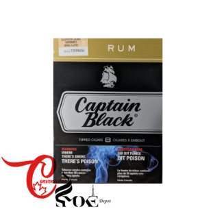 CAPTAIN BLACK RUM – 8 Cigars per Pack