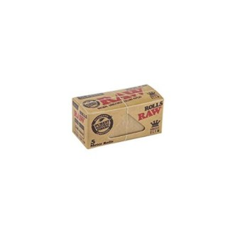 RAW CLASSIC NATURAL UNREFINED HEMP PAPERS ON A ROLL SINGLEWIDE, 5 METERS