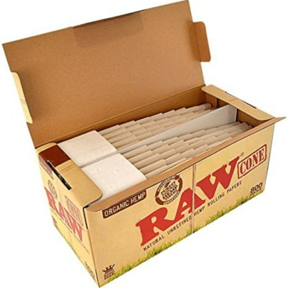 Raw Organic Natural Unrefined Hemp Pre Rolled Cones King Size 800
