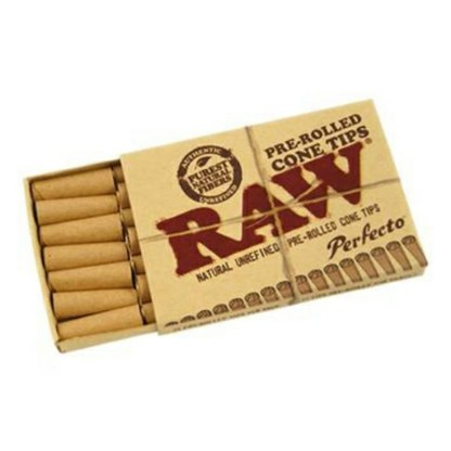 Raw Pre Rolled Perfecto Regular Size Slim Conical Tips