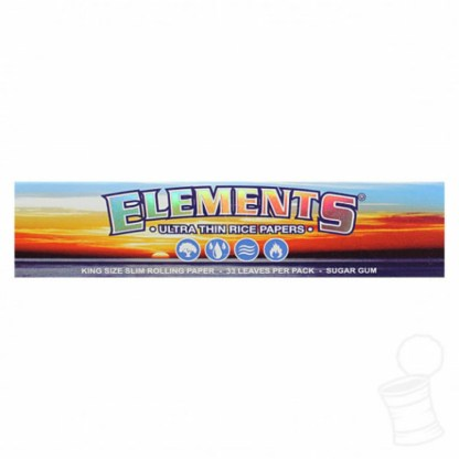 Elements Ultimate Thin Rice Rolling Papers King Size Slim