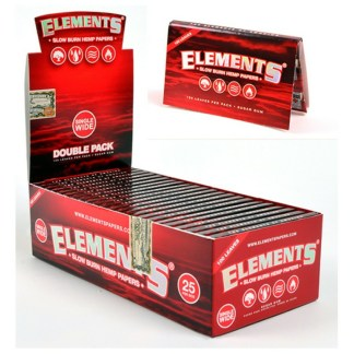 Elements Red Single Wide Slow Burning Hemp Rolling Papers