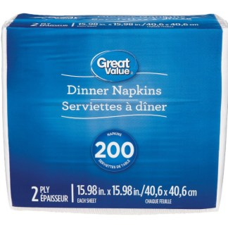 Great Value 200 Table Napkins