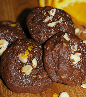 Chocolate Orange with Hazelnuts Cookies