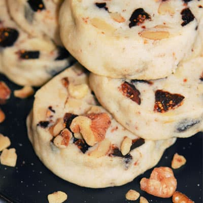 Honey Fig and Walnut Cookies