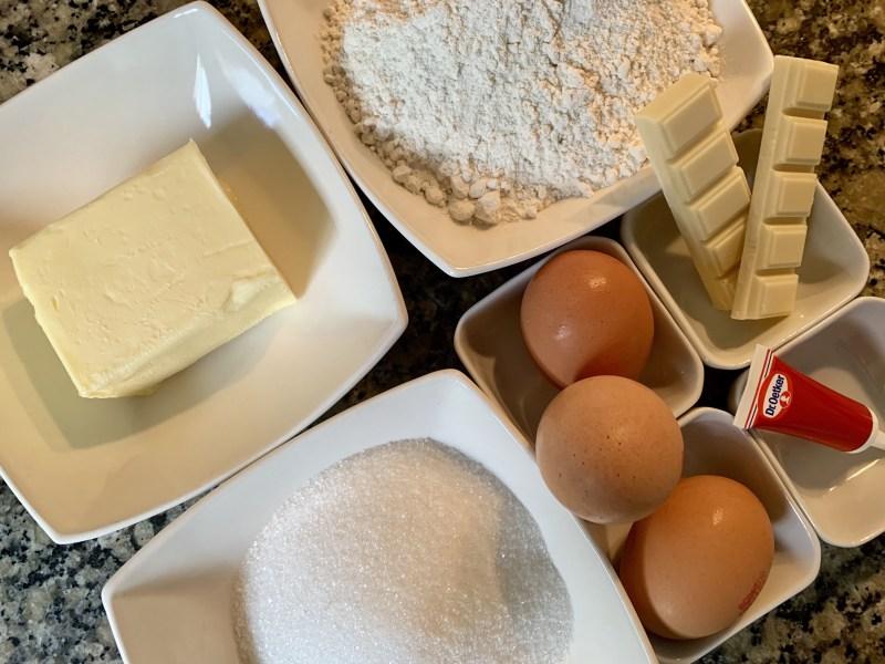 Ingredientes bizcocho dos colores