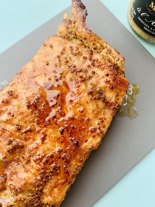 Costilla de Cerdo con miel y mostaza