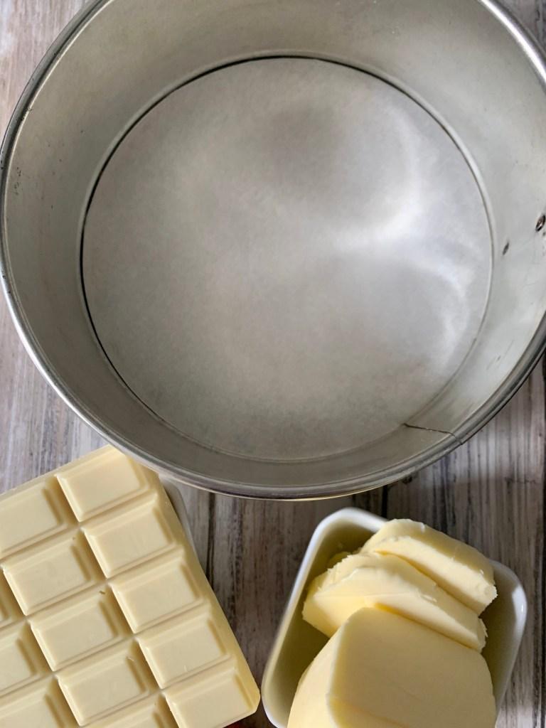Ingredientes Bizcocho de Chocolate blanco
