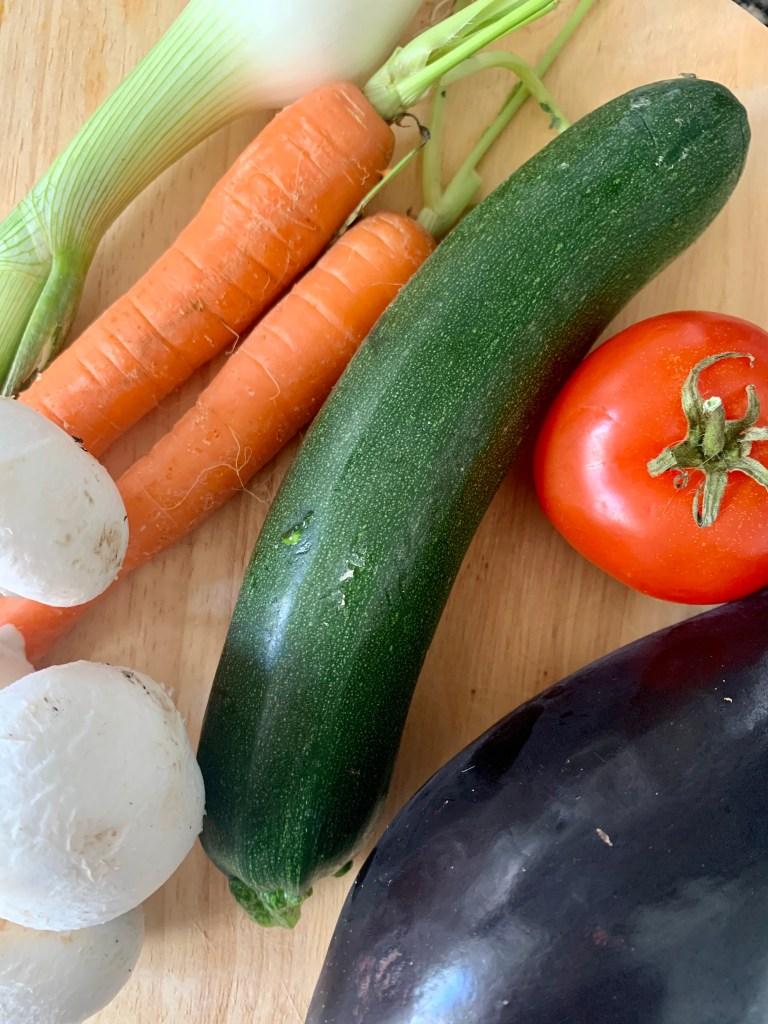 Ingredientes Verduras a la plancha