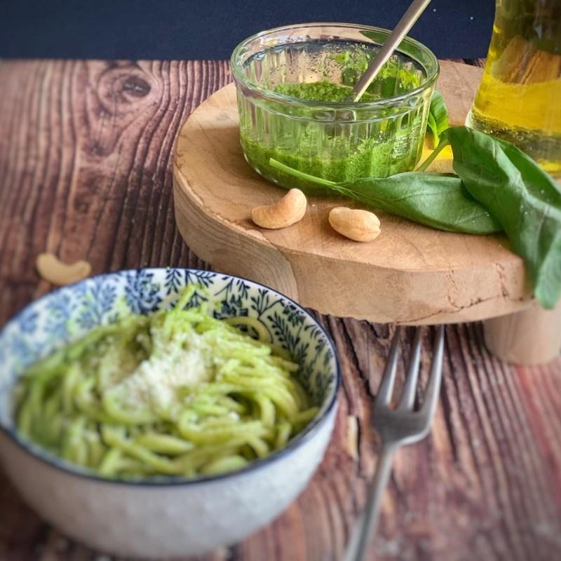 Salsa Pesto con anacardos