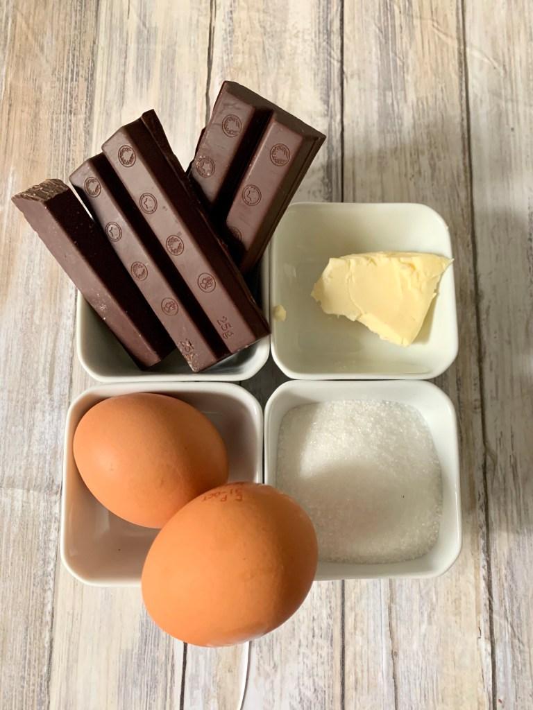 Ingredientes Mousse de Chocolate sin nata