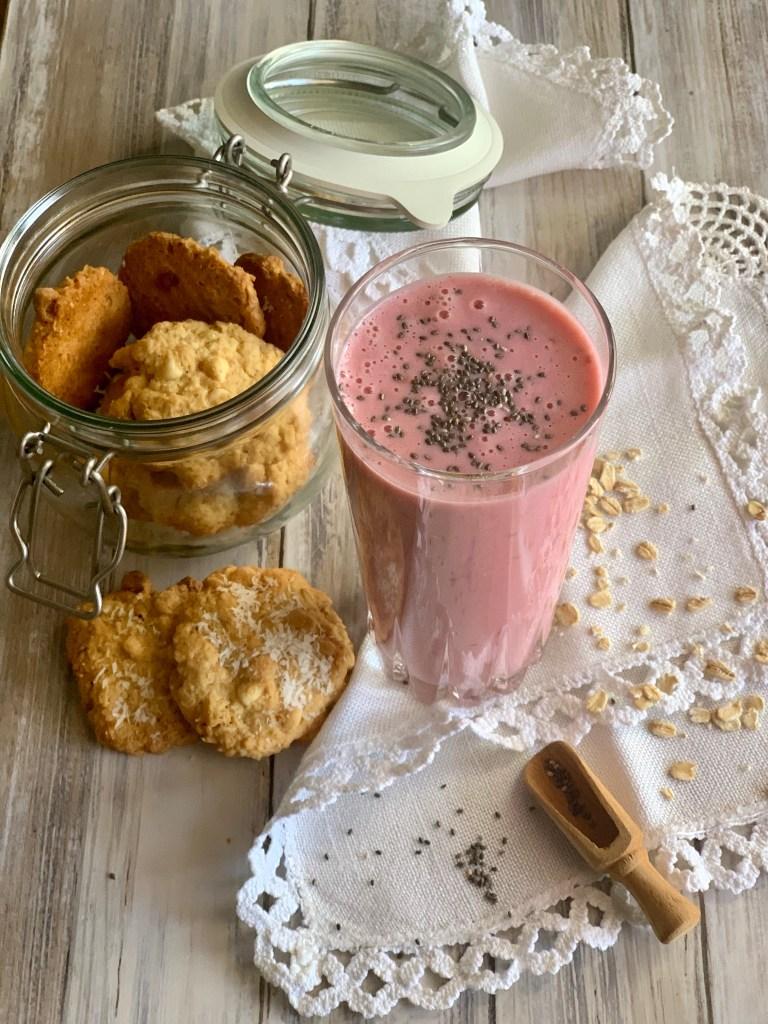 Smoothie de Frambuesas y leche de Avena