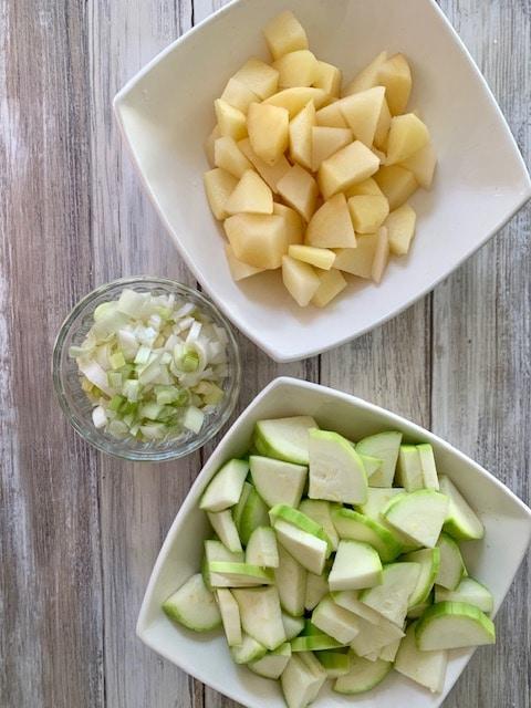 Verduras cortadas