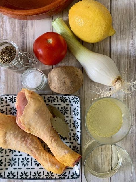 Ingredientes Muslos de pollo