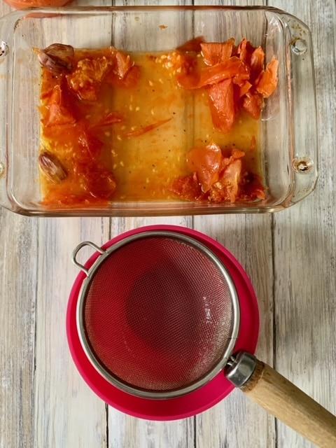 jugo de los tomates