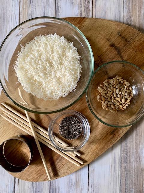 Ingredientes Piruletas de Queso Parmesano