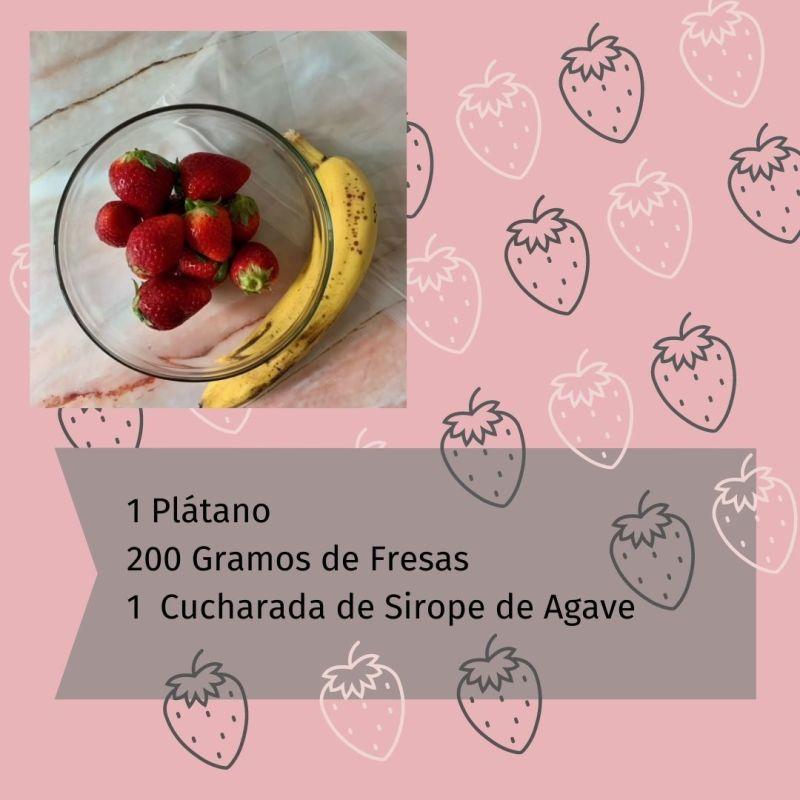 Ingredientes Helado de Fresas