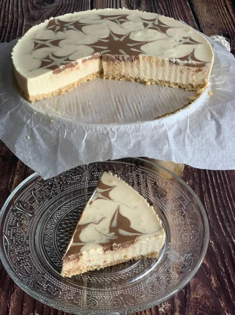 Corte Tarta Queso Mascarpone sin horno
