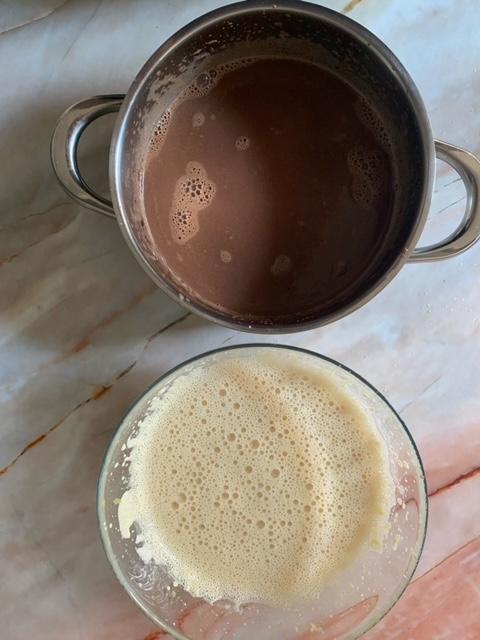 Elaboraciones de las Natillas de Chocolate