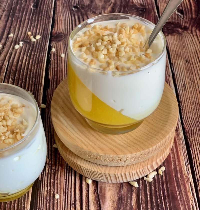 Mousse de Yogur y mango