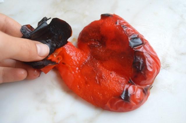 peeling-peppers
