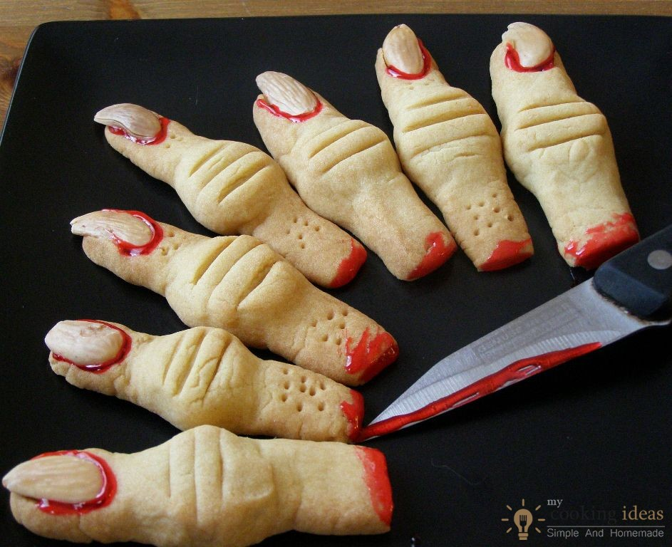 Creepy Monster's Finger Cookies