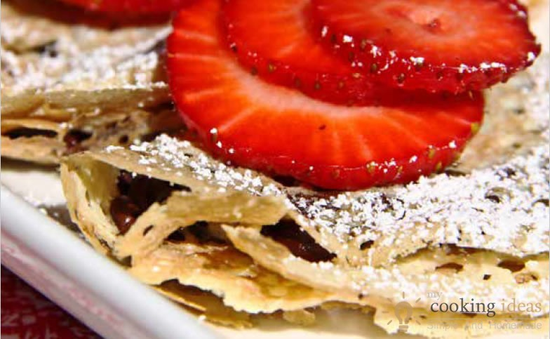 Strawberry-Chocolate Chip Crêpes