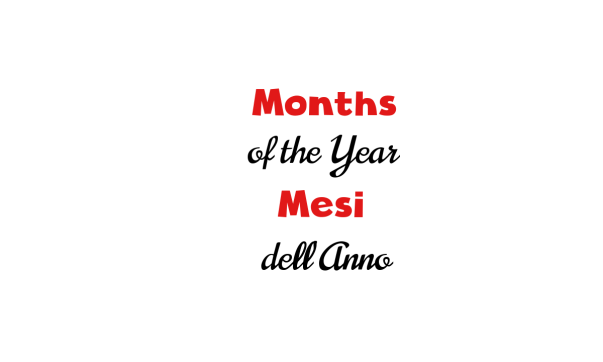 Months of the year in Italian