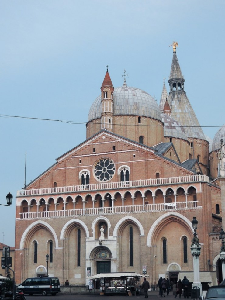 The Basilica of Saint Anthony view from via Belludi