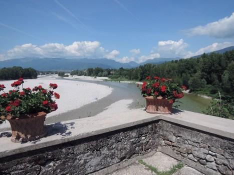 Terrace on the river Piave, Santa Bona Abbey