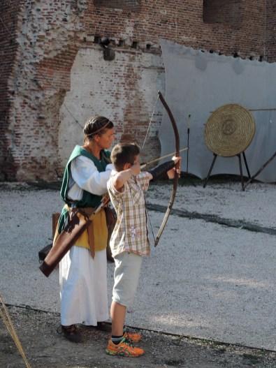 Archery lesson, Palio di Noale