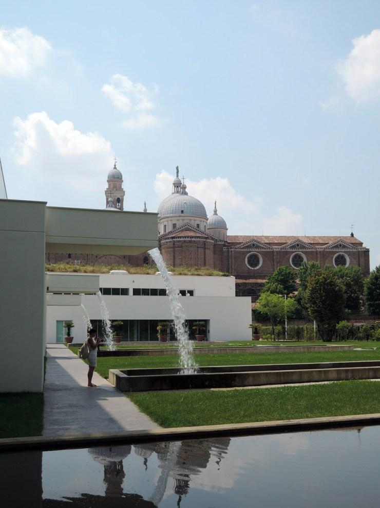 Greenhouses and Santa Giustina, Botanical Garden in Padua