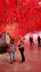 "Venice Biennale 2015: The installation ""Follow the Line"" by Chiharu Shiota (Gardens, Japan Pavilion)"