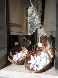 Lace shop windowsill, Burano