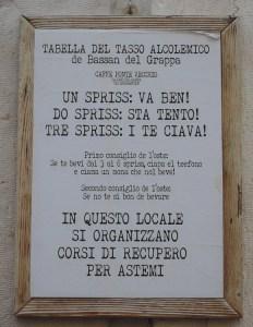 Poster outside a café