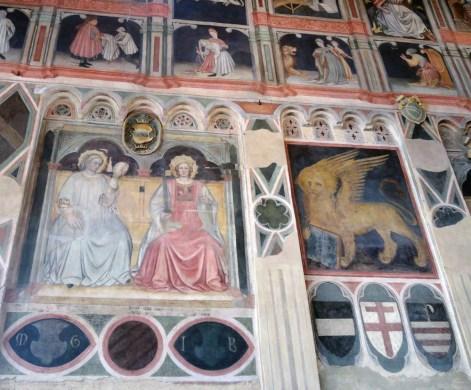 The frescoes, Palazzo della Ragione