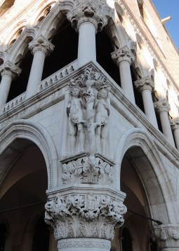 Adam and Eve, Palazzo Ducale facade