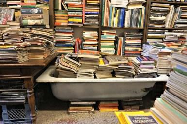 Bathtub Acqua Alta bookshop