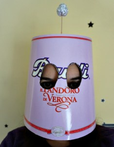Me with a pandoro mask