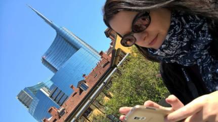 Me in Corso Como, photo by Roberta Zago aka Arcobalenoblue